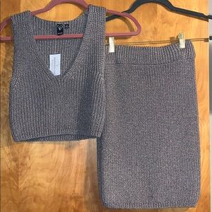 BRAND NEW TAUPE SHIMMER KNIT SET!